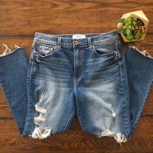 Pistola Distressed Raw Edge Hem Skinny Jeans